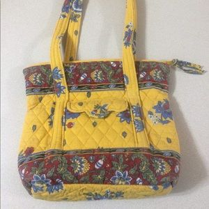 Retired Vera Bradley French Yellow Small Tote
